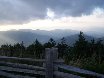 This image shows the view from Mount Mitchell in the Blue Ridge Mountains of Western North Carolina.  From here, I can see many places at once.